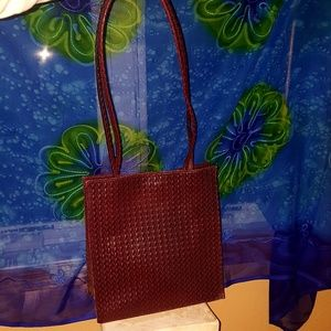 Wilson's Leather tote bag vintage woven design
